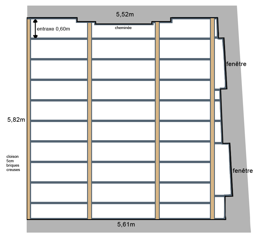 comment désolidariser les cloisons d'un plafond ?